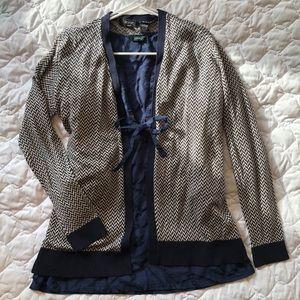 NWT Verve Ami herringbone open sweater